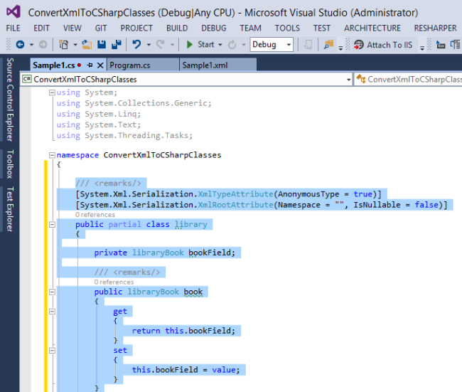 Convert XML and JSON to C# Classes –  Net Diaries