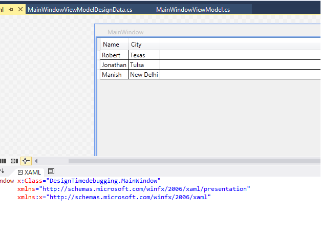How to Debug the Design Time Errors in WPF XAML File? –  Net